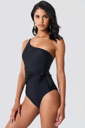 Trendyol One Shoulder Tie Waist Swimsuit