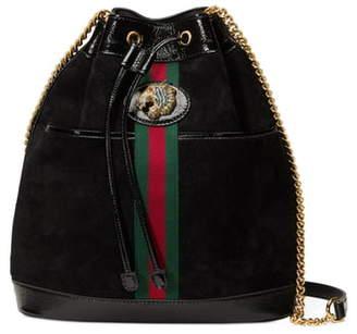 Gucci Linea Rajah Suede Bucket Bag