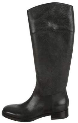 Santoni Leather Mid-Calf Boots
