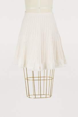 Molli Short skirt in chevron knit