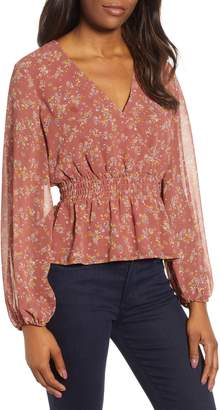 1 STATE 1.STATE Smocked Waist Heritage Blouse