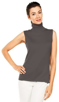 Joan Rivers Classics Collection Joan Rivers Wardrobe Builders Easy Chic Turtleneck Tank