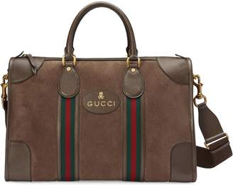 Gucci Suede duffle bag with Web