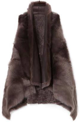 Karl Donoghue Reversible Shearling Gilet - Dark brown