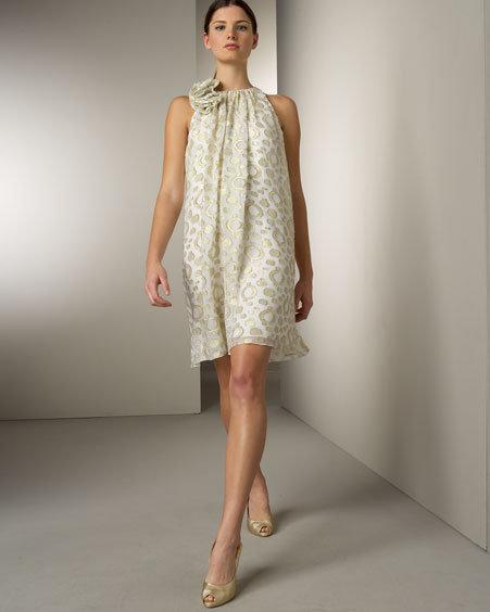 ABS by Allen Schwartz Rosette Dress