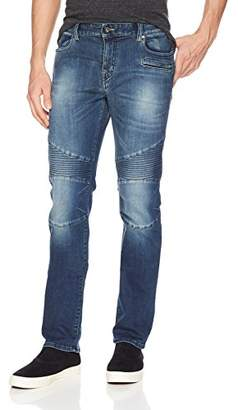Armani Exchange A|X Men's Slim fit Motorcycle Inspired Blue Jeans