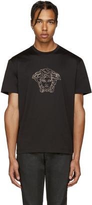 Versace Black Studded Medusa T-Shirt $450 thestylecure.com