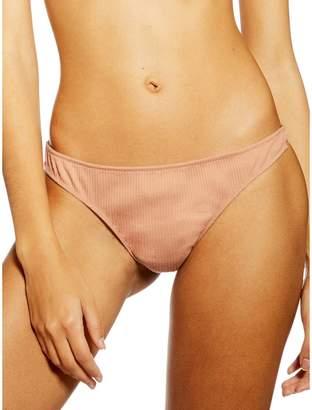 Topshop Lace Ribbed Brazilian Panties