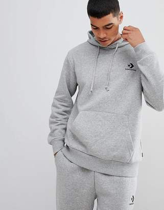 Converse Pullover Logo Hoodie In Gray 10008814-A03