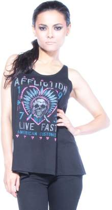 Affliction AC Pow Wow Graphic T-shirts S Women