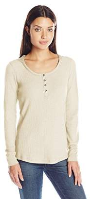 Columbia Women's Weekday Waffle Henley Long Sleeve $18.36 thestylecure.com