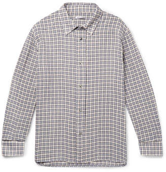 Our Legacy Fine Frontier Oversized Checked Cotton Shirt