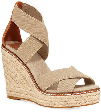 832a926cb3cd2 Tory Burch Frieda Strappy Woven Wedge Espadrilles