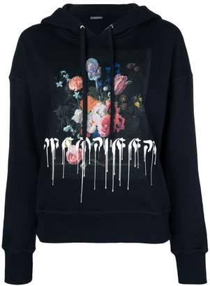 Alexander McQueen floral paint drip hoodie