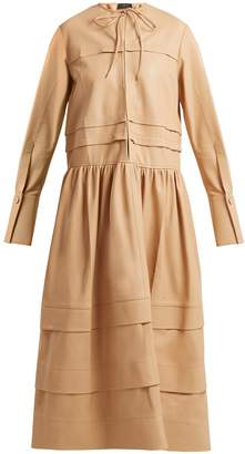 Joseph Odette tiered leather dress