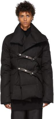 Rick Owens Black Dustulator Wrap Jacket