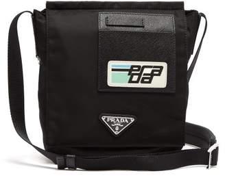 bb8d5d426c06 COM · Prada Logo Plaque Nylon Cross Body Bag - Mens - Black Multi