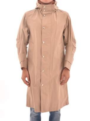 Thom Browne Camel Hooded Overcoat