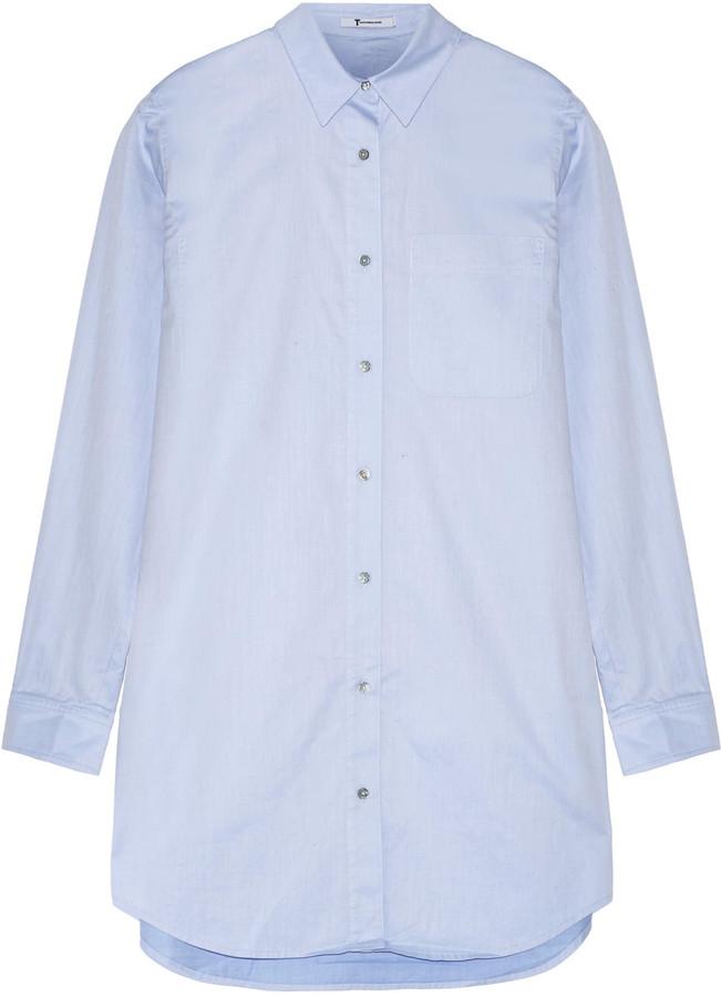 Alexander WangT by Alexander Wang Cotton-poplin mini shirt dress