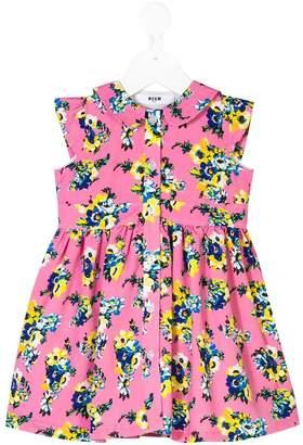 MSGM floral-print shirt dress