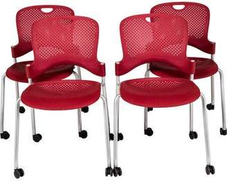 Herman Miller Set of 4 Caper Stacking Chairs