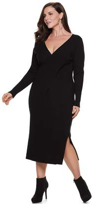 JLO by Jennifer Lopez Plus Size Reversible Sweater Dress