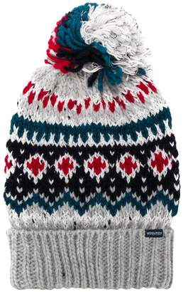 Woolrich intarsia bobble hat