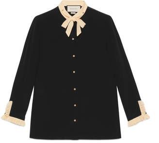 Gucci Silk necktie shirt