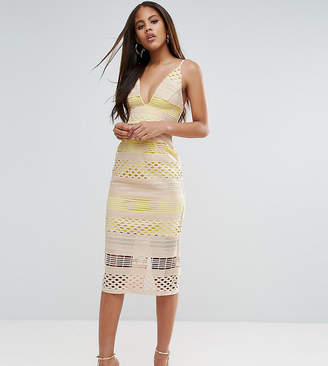 Asos Tall TALL Hitchcock Graphic Lace Midi Pencil Dress