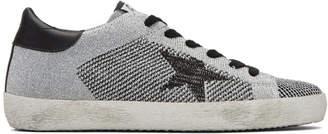 Golden Goose Silver Lurex Superstar Sneakers