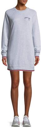 The Upside Knockout Crewneck Long-Sleeve Cotton Dress