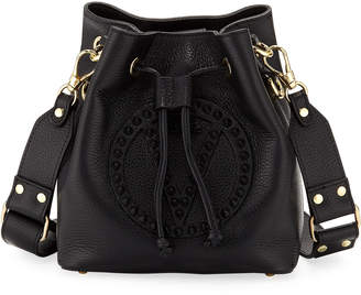 Mario Valentino Valentino By Leon Studded Leather Bucket Bag