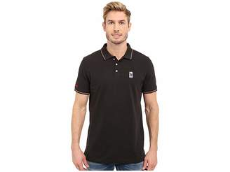 U.S. Polo Assn. Solid Pique Polo Shirt w/ Color Tipped Collar Cuffs Men's Short Sleeve Pullover