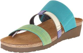 Naot Footwear Brenda, Turquoise Green Fabric/Black/White Gore/Sky Leather, 39 (US Women's 8) M