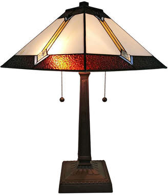 Tiffany & Co. AMORA Amora Lighting AM223TL14 Style Multicolored Mission Table Lamp 21 inches