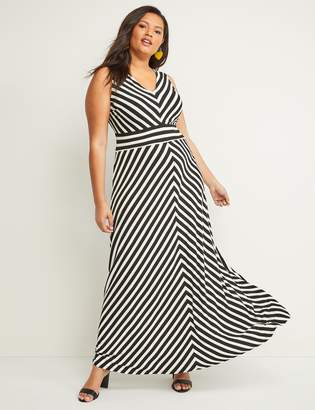 Lane Bryant Chevron Stripe Maxi Dress