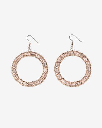 Express Baguette Circle Drop Earrings