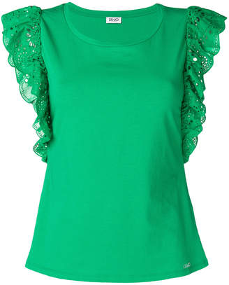 Liu Jo embroidered sleeves T-shirt
