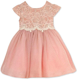 Rare Editions Baby Girls' Lace-Bodice Dress $70 thestylecure.com