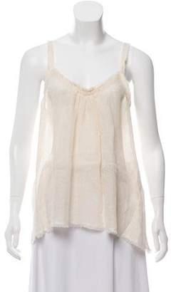 Giada Forte Sleeveless Linen Top