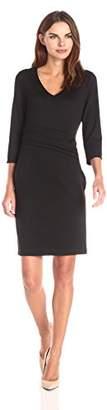 Lark & Ro Women's 3/4 Sleeve Ponte Sheath Dress