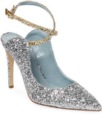 Chiara Ferragni Two Tone Glitter Ankle Wrap Pump
