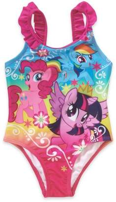 My Little Pony Toddler Girl Ruffle Detail 1pc Swimsuit