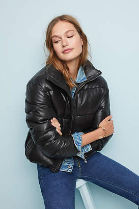 Lamarque Leather Puffer Jacket