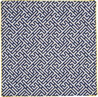 Kenzo (ケンゾー) - KENZO HENSON クッションカバー ネイビー/ホワイト 65x65