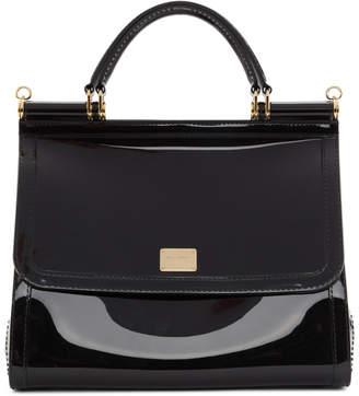 Dolce   Gabbana Black PVC Miss Sicily Bag 3d9600ebda