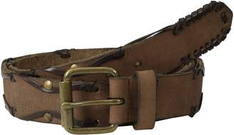 John Varvatos Men's 38mm Leather Belt with Harness Buckle