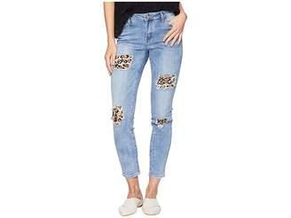 Bebe Drama Leopard Pieces Destroy Jeans in City Slicker