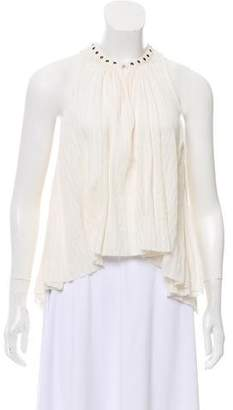 Etoile Isabel Marant Sleeveless High-Low Blouse