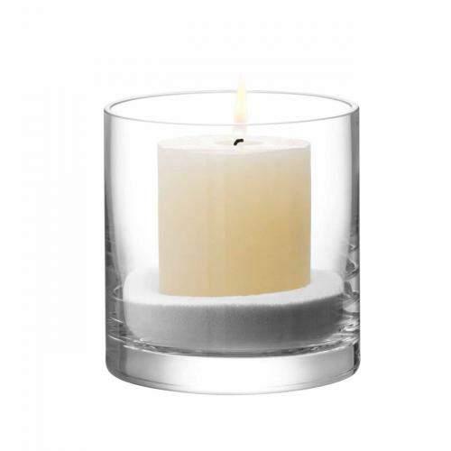 Column Vase/Kerzenglas, klar 12cm